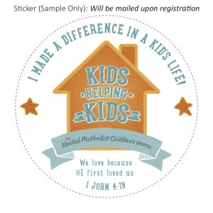 "Sticker: ""I made a difference in a kid's life!"""